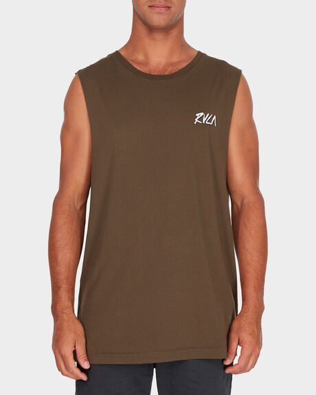 RVCA CHISEL MUSCLE TEE