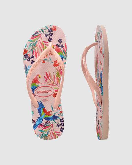 SLIM FLORAL TROPICAL (BIRDS) BALLET ROSE