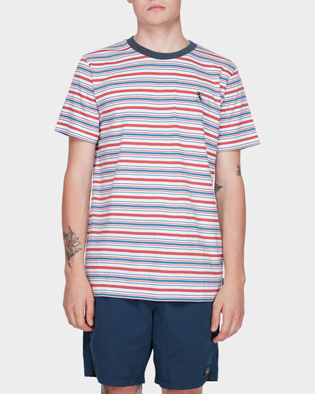 MIAMI STRIPE SHORT SLEEVE TEE