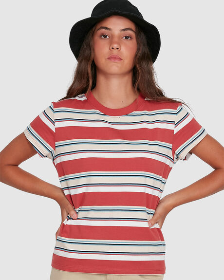 WOMENS SEASONAL STRIPE TEE