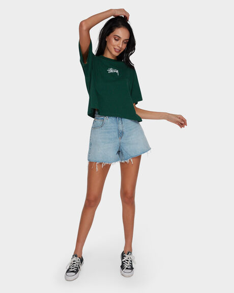 STOCK CROP OVERSIZED TEE