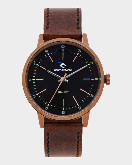 DRAKE BRONZE LEATHER WATCH