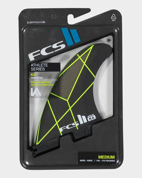 FCS II KA PC GREY/YELLOW MEDIUM TRI RETAIL FINS