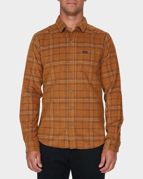 PHASES PLAID CORD LONG SLEEVE