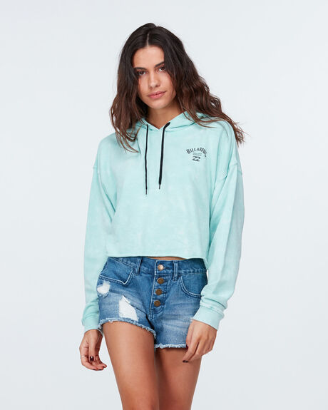 Sundrenched Crop Hooded Pullover