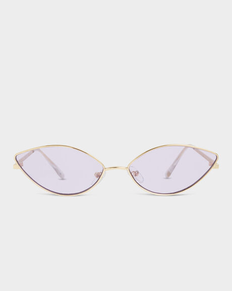 SLICE  GOLD LILAC TINT CATS EYE SUNGLASSES