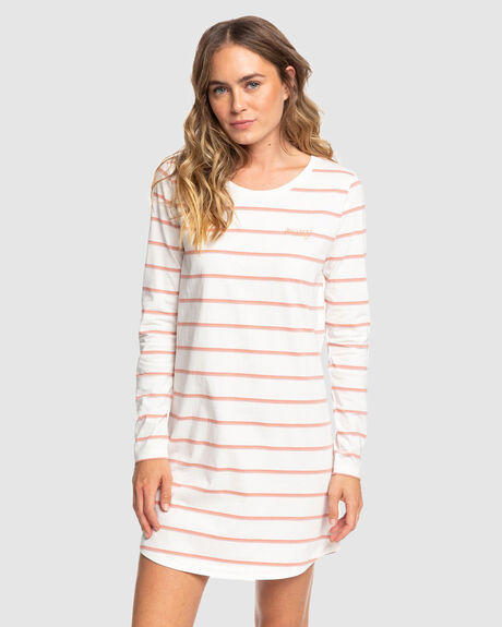 WOMENS LIGHT MIST LONG SLEEVED T SHIRT DRESS