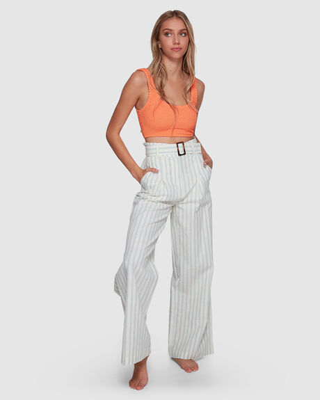 BLUE RAY BELTED PANT
