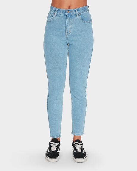 Luckies High Waist Slim Jeans - Stone Blue