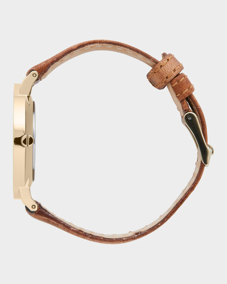 LATCH GOLD LEATHER WATCH