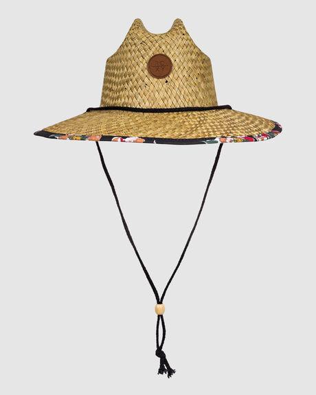 WOMENS PINA TO MY COLADA STRAW SUN HAT