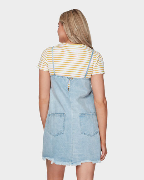 BLEACHED PINAFORE DRESS