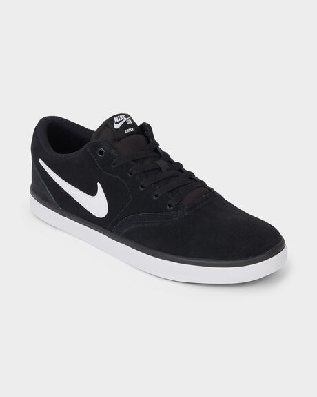 NIKE SB CHECK SOLARSOFT BLACK/WHITE SHOE