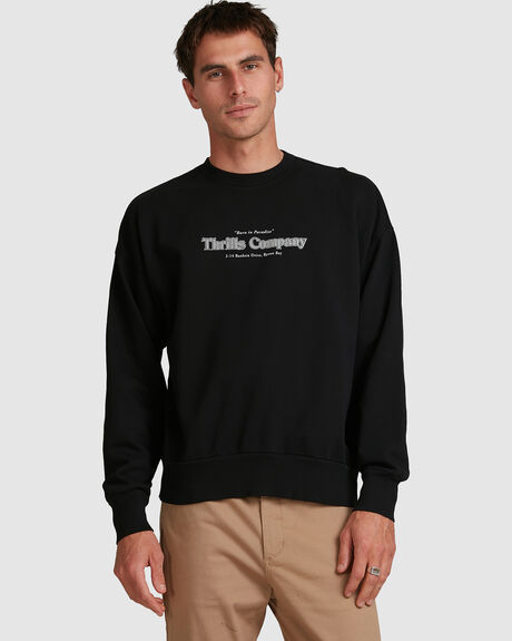 MENS COMPANY PINLINE SLOUCH FIT CREW