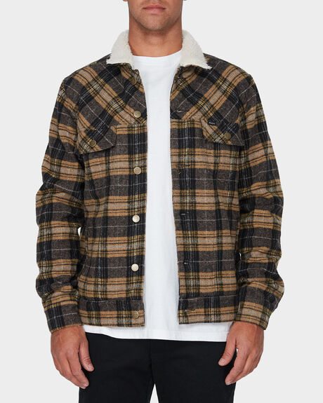 DAGGERS PLAID SHERPA JACKET