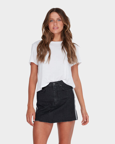 STRANGER STRIPE DENIM SKIRT