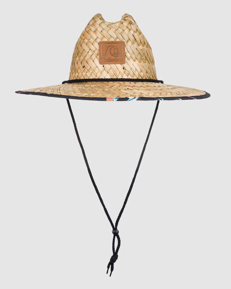 MENS OUTSIDER STRAW LIFEGUARD HAT