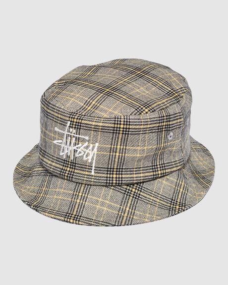 GRAFFITI CHECK BUCKET HAT