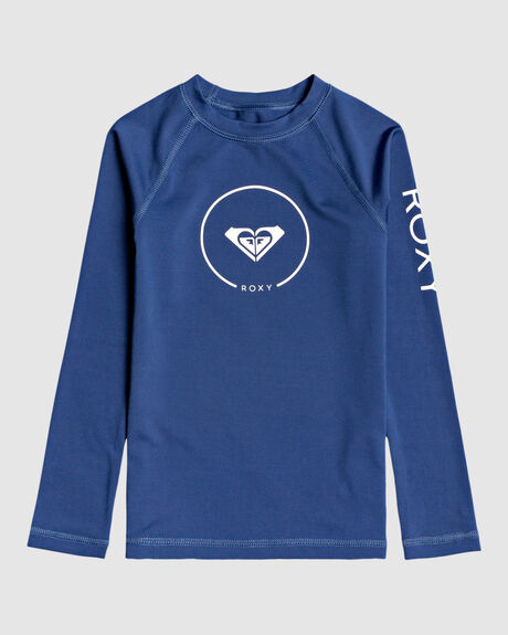 GIRLS 2-7 BEACH CLASSICS LONG SLEEVE UPF 50 RASH VEST