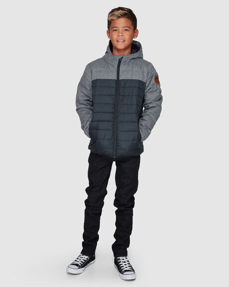 SCALY MIX WATER REPELLENT HOODED INSULATED JACKET