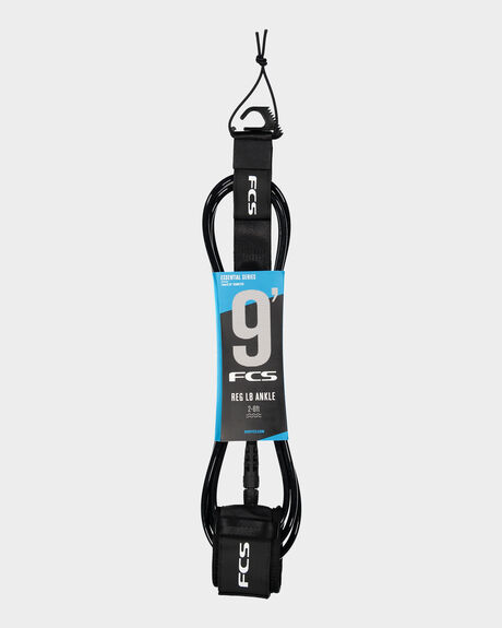 FCS 9' REG ANKLE ESSENTIAL LEASH BLACK