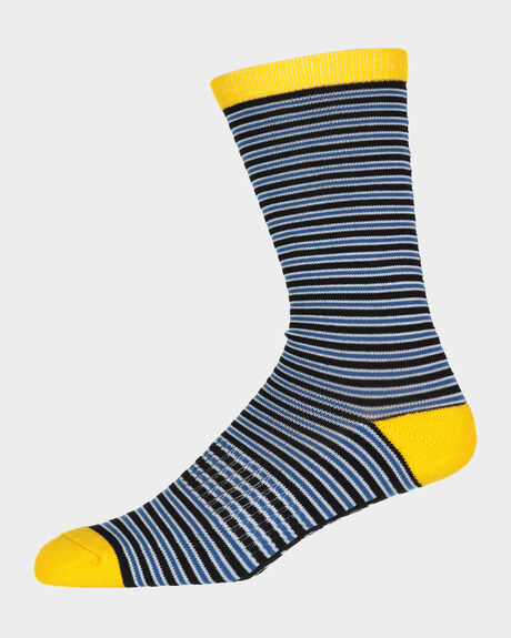 SUPER STRIPE CREW SOCK - 1 PAIR