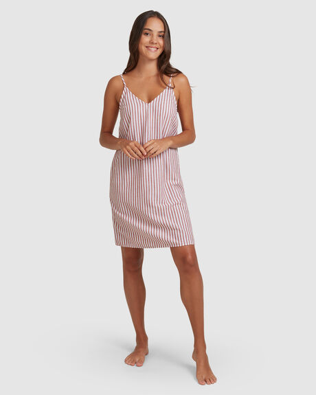 FLORENCE FEELS STRIPED COTTONS STRAPPY DRESS