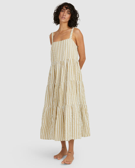 SUNSET SEASPRAY MAXI DRESS