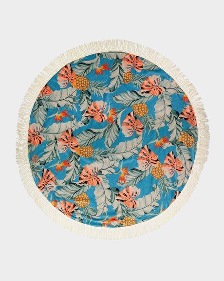 MAKAI ROUND SKY BLUE TOWEL