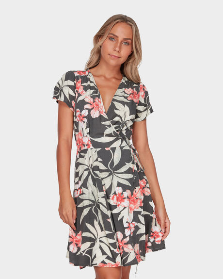 FADED JUNGLE WRAP DRESS - YARDAGE