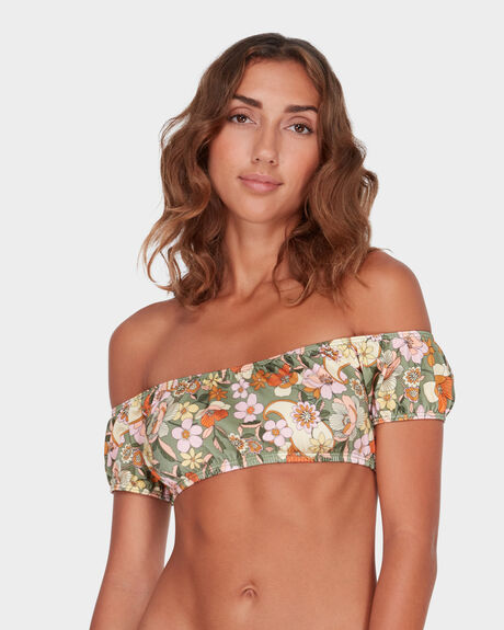 CARAVAN COLD SHOULDER BIKINI TOP