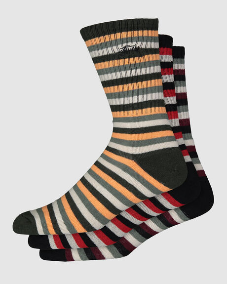 GRAFFITI STRIPE SOCK 3 PACK