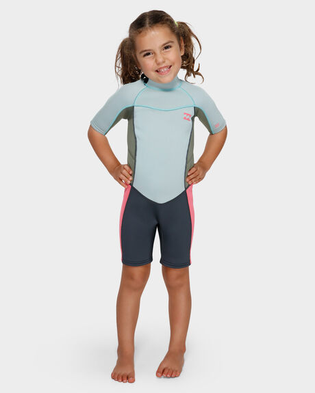 202 TODDLER SYNERGY FL BACK ZIP SHORT SLEEVE SPRINGSUIT