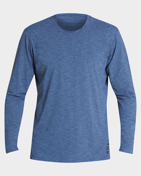 HEATHERED VENTX SOLID L/S