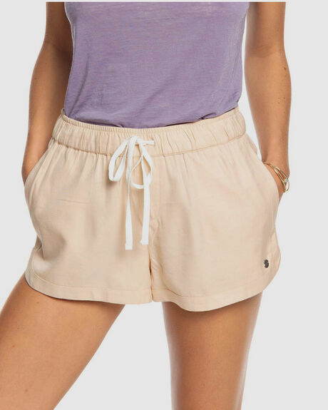 """WOMENS NEW IMPOSSIBLE LOVE 1.7"""" ELASTICATED  BEACH SHORTS"""