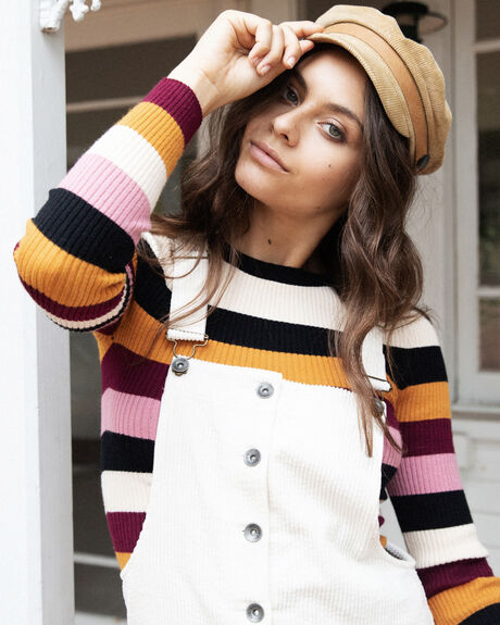 WIDE STRIPE KNIT TOP