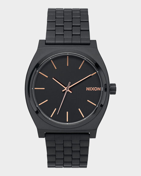 TIME TELLER ALL BLACK / ROSE GOLD WATCH