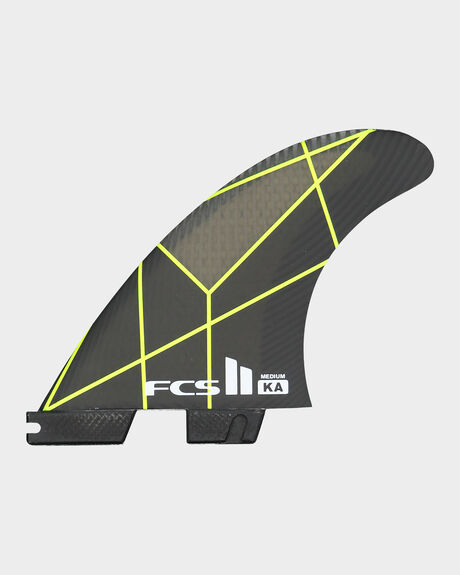 FCS II KA PC GREY/YELLOW MEDIUM TRI RETAIL FINS