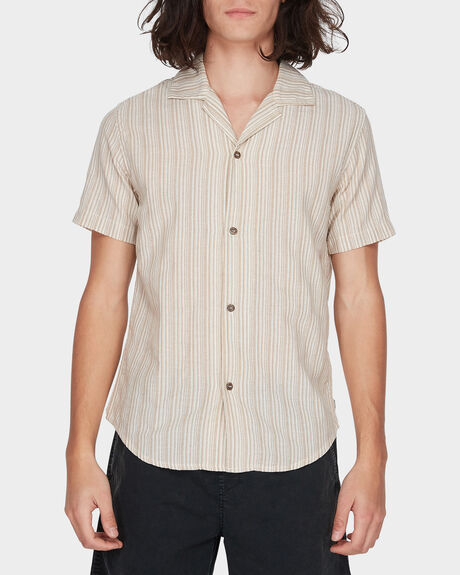 VACATION STRIPE SHORT SLEEVE SHIRT