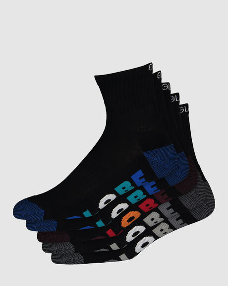 BOYS MULTI STRIPE CREW SOCKS