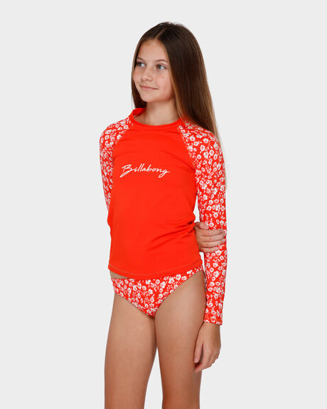 POPPY FLORAL LONG SLEEVE RASHGUARD S
