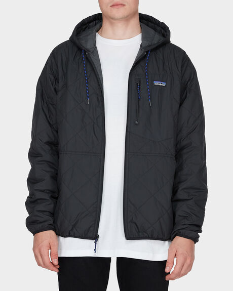 Black DIAMOND QUILTED BOMBER JACKET
