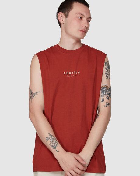 PALMED THRILLS MUSCLE  - ROCKER RED