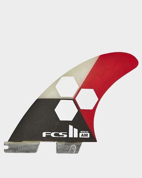 FCS II AM PC MEDIUM FLAME TRI-QUAD RETAIL FINS