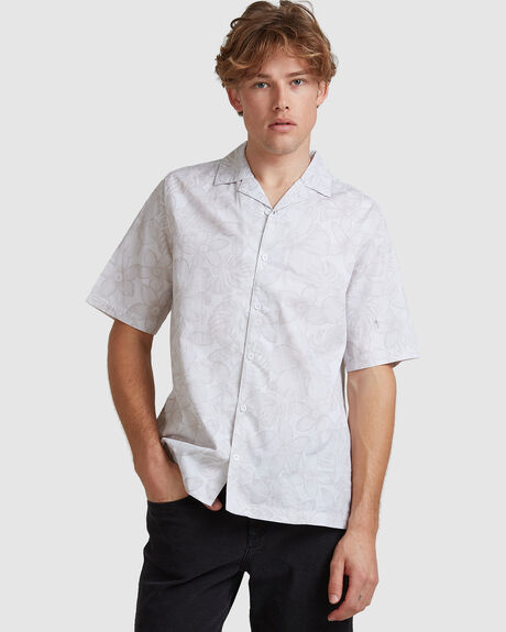 MENS BLOOM CUBAN SHORT SLEEVE SHIRT