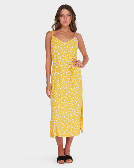 SUNTRIP SLIP MIDI DRESS