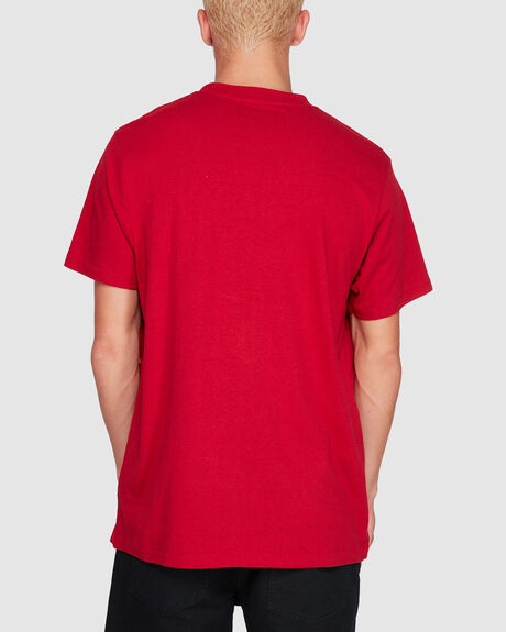OXLEY TEE WORN RED SHORT SLEEVE TEE