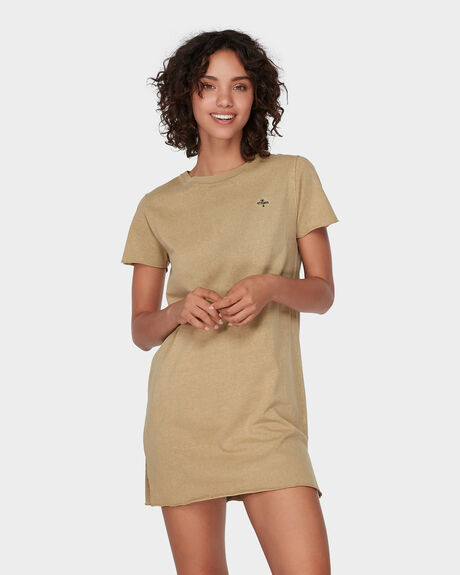 PALM EMBRO TEE DRESS