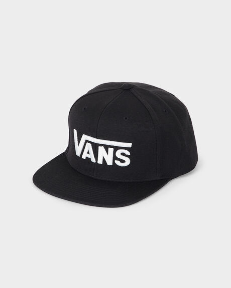 DROP V SNAPBACK HAT BLACK WHITE