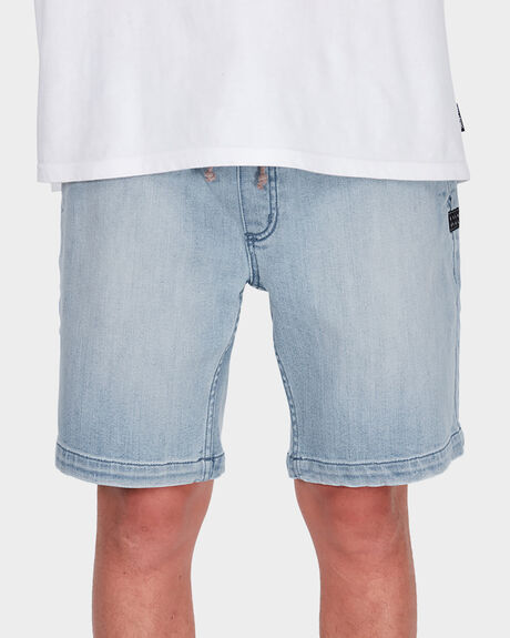 LARRY DENIM ELASTIC SHORT